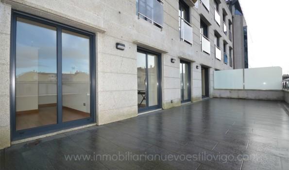 Espectacular terraza en céntrico piso de tres dormitorios, C/ García Barbón-Vigo_zona centro