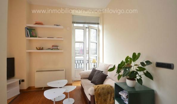 Precioso estudio con cama-vestidor en edificio emblemático en Puerta del Sol_Vigo-Zona Casco Vello Principe