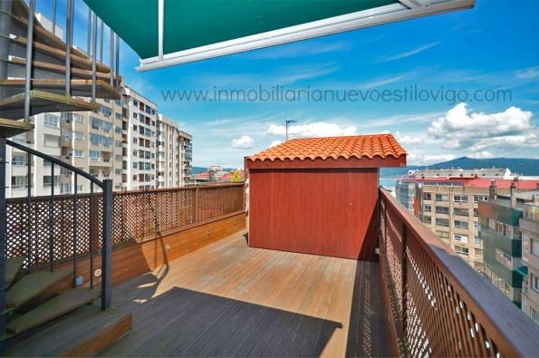 Ático de diseño con terraza y vistas a la ría en C/ Taboada Leal-Vigo_zona centro