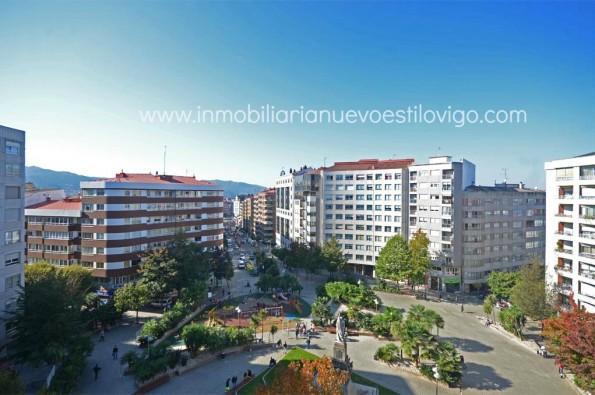 Magnífico piso de 250 m2 con terrazas en la Plaza de la Independencia-Vigo_zona Traviesas