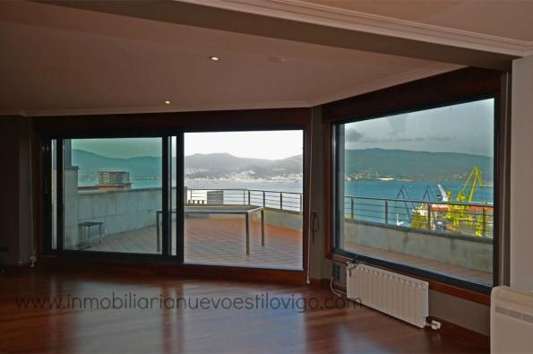 Espectacular ático con terraza y maravillosas vistas al mar en C/ Inés Perez de Ceta-Vigo_ Zona Marítima Centro