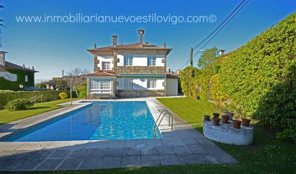 Magnífico chalet de piedra con piscina en Canido-Vigo_zona playas