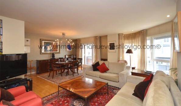 Gran piso de lujo con cinco dormitorios y tres plazas de garaje en C/ García Barbón-Vigo_Zona Centro