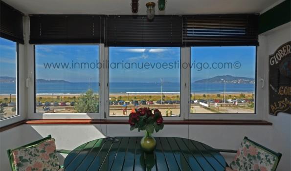 Piso de tres dormitorios en primera línea de mar en Playa América-Nigrán_zona playas