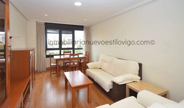 Amplio apartamento de dos dormitorios y dos baños con garaje y trastero en C/ Miradoiro-Vigo_zona Traviesas/C.C. Gran Vía