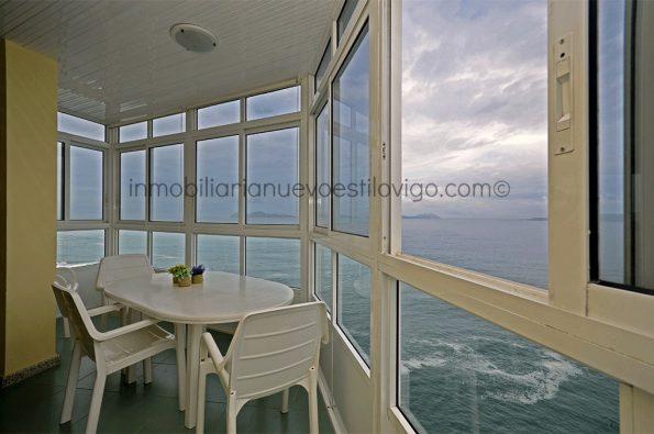 Espectaculares vistas al mar desde la 18º planta de esta vivienda en la isla de Toralla-Vigo_zona playas
