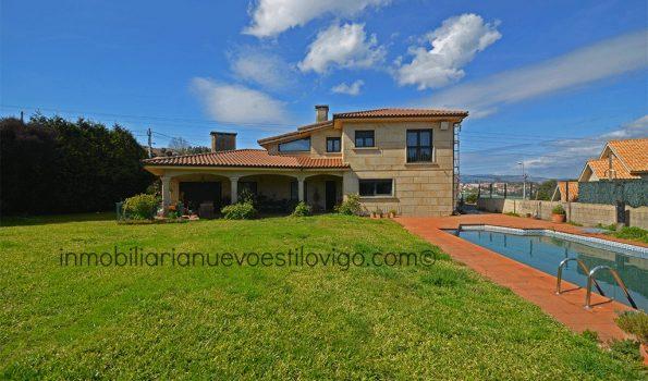 Estupendo chalet de piedra con piscina en la colina de Castrelos-Sárdoma_Vigo