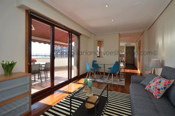 Apartamento totalmente exterior con terraza y garaje, C/ Chouzo-Vigo_zona plaza de la Industria