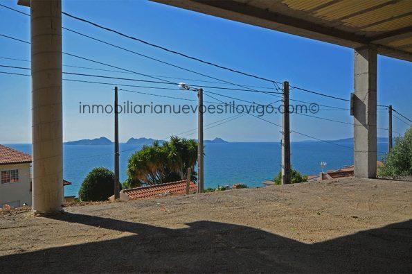 Impresionantes vistas al mar desde este chalet en estructura en Prado-Nigrán_zona playas