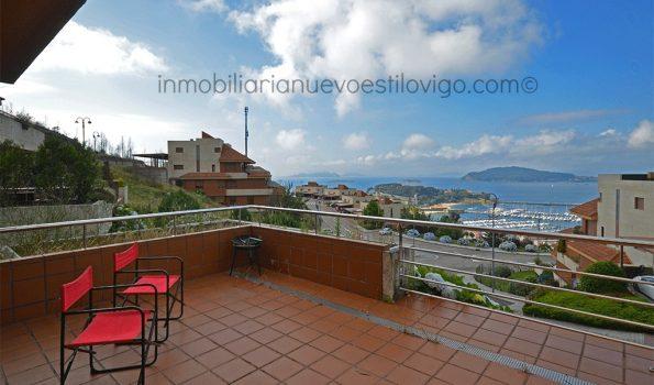 Vivienda de dos dormitorios en macla, en urbanización Vista Real_Baiona-zona playas