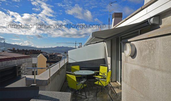 Moderno ático estudio a estrenar con estupenda terraza y garaje en C/Zaragoza-Vigo_zona Povisa