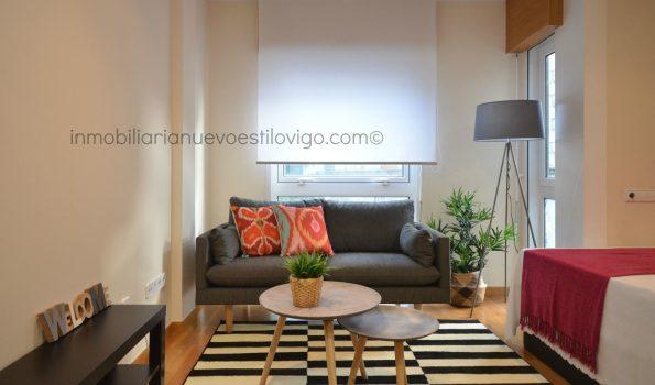 Luminoso estudio totalmente amueblado a estrenar, C/ Romil-Vigo_zona Ayuntamiento