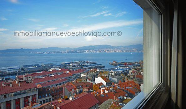 Espectaculares vistas al mar y a los jardines del castro desde esta vivienda de 150m², C/Camelias_Vigo-zona ayuntamiento