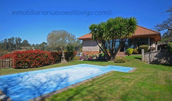 Espectacular chalet con piscina y vistas en Bembrive-Vigo_zona Beade
