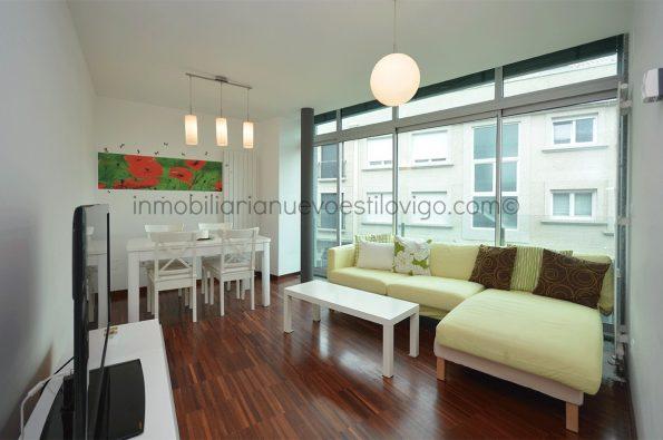 Moderno apartamento de 2 dormitorios en 1ª línea de playa en edificio de lujo en Panxón_Nigrán-zona playas