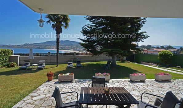 Bonito chalet de planta baja con vistas al mar, en Monteferro-Nigrán