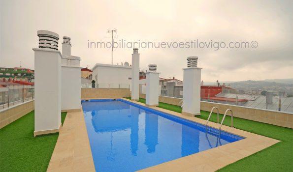 Apartamento de dos dormitorios con garaje en el edificio Apartuno, C/ Gran Vía-Vigo_zona Traviesas