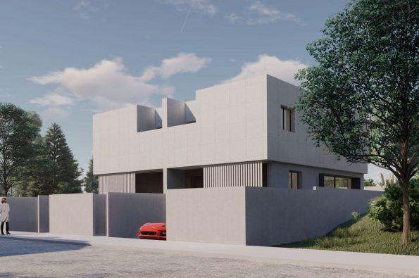 Obra Nueva: modernos pareados en construcción en una de las mejores zonas del centro de Nigrán-zona playas