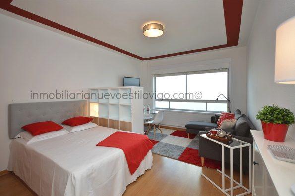 Espectaculares vistas en este estudio ideal, amueblado a estrenar, C/ Cánovas del Castillo-Vigo-zona marítima centro