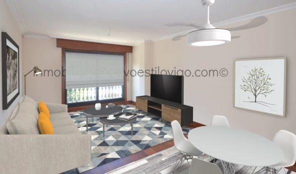 Vivienda de dos dormitorios y dos baños, con garaje, C/ Hispanidad-Vigo_zona Hispanidad