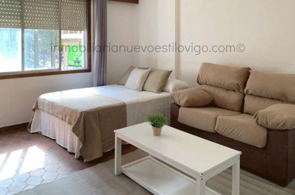 Soleado estudio con calefacción y agua caliente incluido, C/ Bolivia-Vigo_zona Pizarro/Corte Inglés