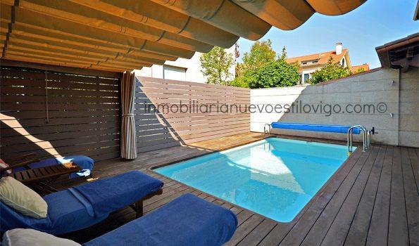 Impecable chalet pareado con piscina, C/ Illas Estelas-Nigrán_zona playas