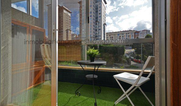 Acogedor y soleado apartamento de dos dormitorios, con garaje, C/ Gcía. Barbón-Vigo_zona centro